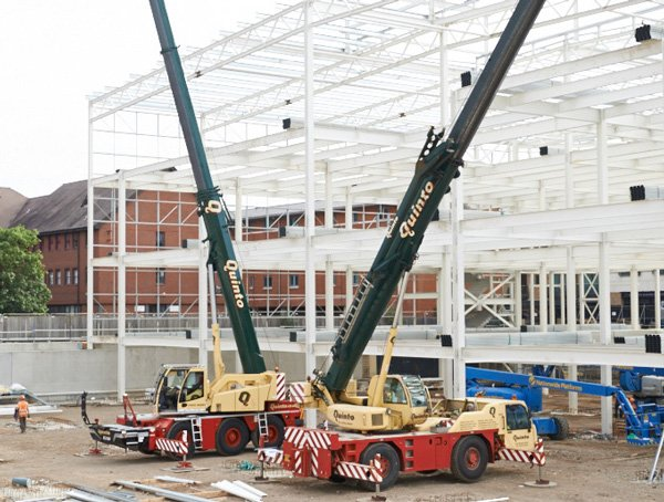 Quinto Crane & Plant Liebherr LTC 1045 crane and Terex AC35L all terrain mobile crane