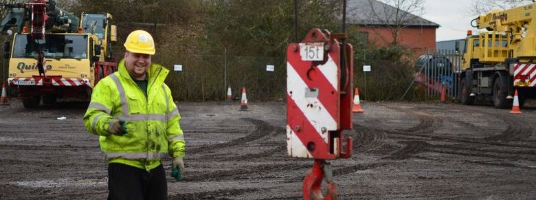 Slinger Signaller training at Quinto Crane and Plant, Norwich, Norfolk